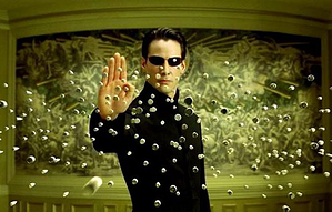 Keanu Reeves trying to calculate how many IOPS in The Matrix