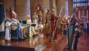 Moses and Pharoah having a network management debate, ten-commandments style: let my packets go!