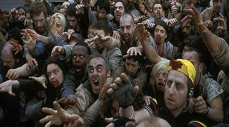 black friday zombie mob