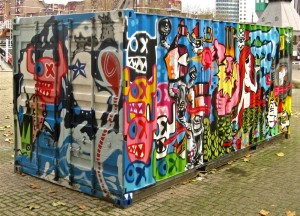 Cool Graffiti Container
